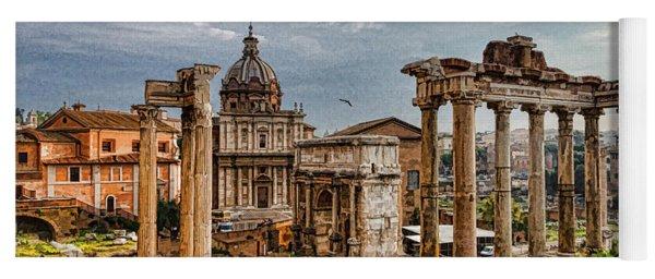Ancient Roman Forum Ruins - Impressions Of Rome Yoga Mat