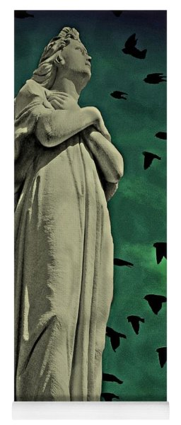 Yoga Mat featuring the photograph Angel Of Stone by David Dehner