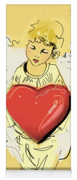 Angel Red Heart Yoga Mat