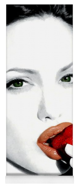Angelina Jolie Yoga Mat