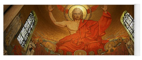 Angry God Mosaic At The Shrine Of The Immaculate Conception In Washington Dc Yoga Mat