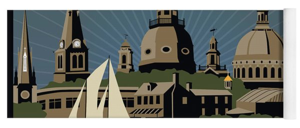 Annapolis Steeples And Cupolas Serenity With Border Yoga Mat