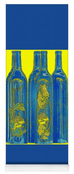 Antibes Blue Bottles Yoga Mat