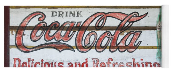 Antique Coca Cola Sign  Yoga Mat