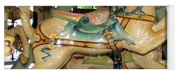 Antique Dentzel Menagerie Carousel Cat Yoga Mat