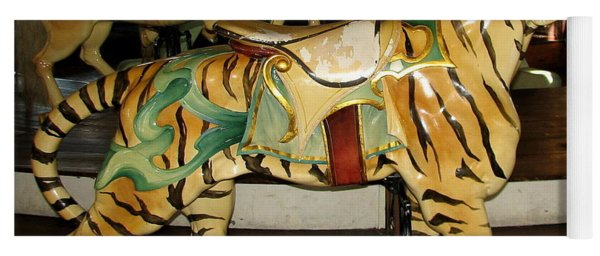 Antique Dentzel Menagerie Carousel Tiger Yoga Mat