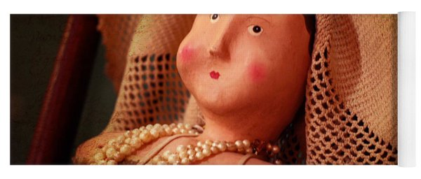 Antique Doll With Pearls Yoga Mat