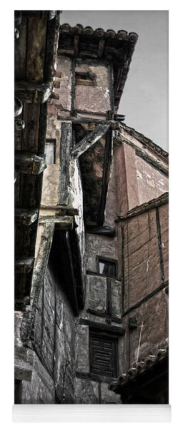 Antique Ironwork Wood And Rustic Walls Yoga Mat