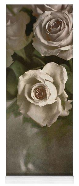 Antique Roses Yoga Mat