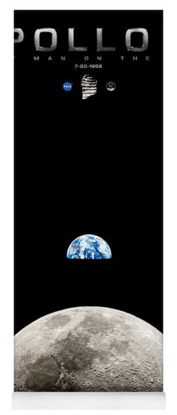 Apollo 11 First Man On The Moon Yoga Mat