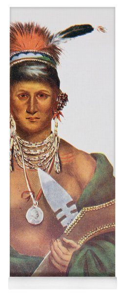 Appanoose, A Sauk Chief, 1837, Illustration From The Indian Tribes Of North America, Vol.2 Yoga Mat