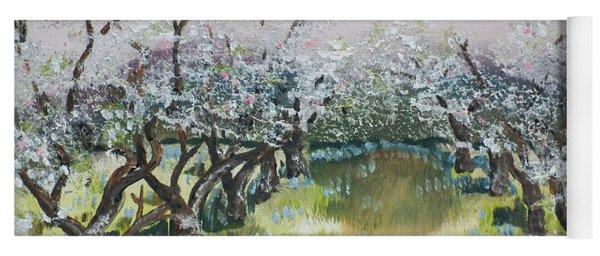 Apple Blossoms In Ellijay -apple Trees - Blooming Yoga Mat
