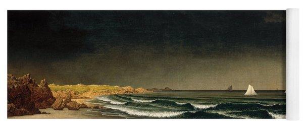 Approaching Storm. Beach Near Newport Yoga Mat
