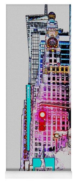 Approaching Times Square Yoga Mat