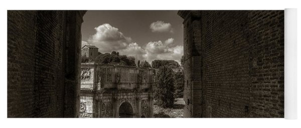 Arch Of Constantine From The Colosseum Yoga Mat