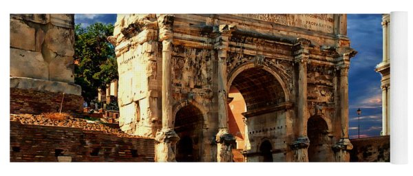 Arch Of Septimius Severus Yoga Mat