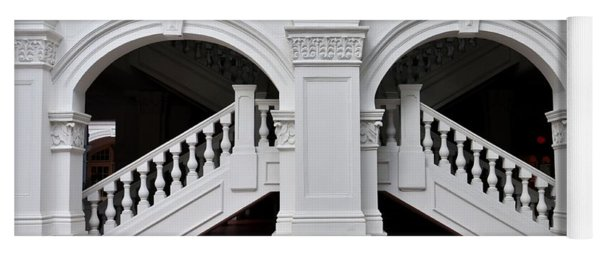 Arch Staircase Balustrade And Columns Yoga Mat