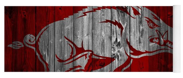 Arkansas Razorbacks Barn Door Yoga Mat