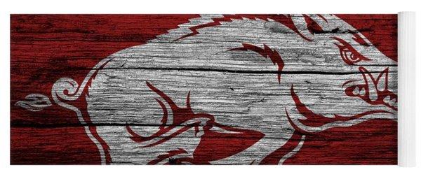 Arkansas Razorbacks On Wood Yoga Mat
