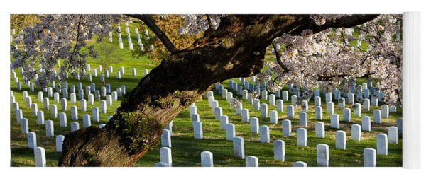 Yoga Mat featuring the photograph Arlington National Cemetary by Brian Jannsen