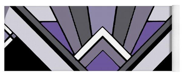 Art Deco Pattern Two - Purple Yoga Mat
