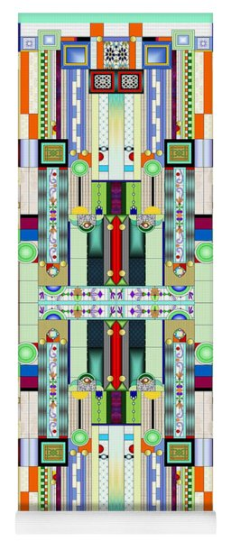 Art Deco Stained Glass 2 Yoga Mat