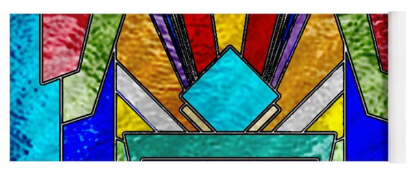 Art Deco - Stained Glass 6 Yoga Mat