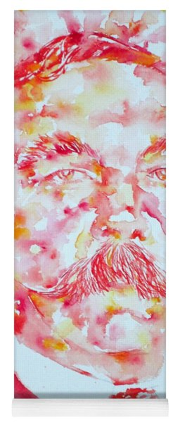 Arthur Conan Doyle Watercolor Portrait Yoga Mat