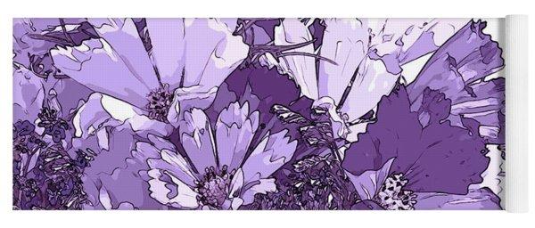 Artsy Purple Cosmos Yoga Mat