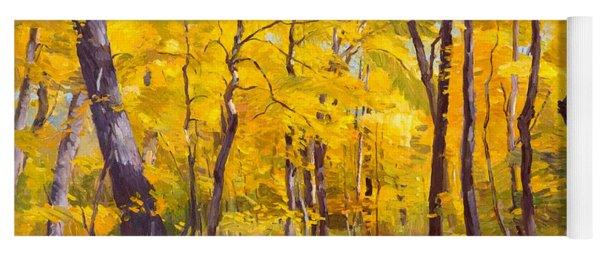 Ash Trees At Fall In The Morton Arboretum Yoga Mat