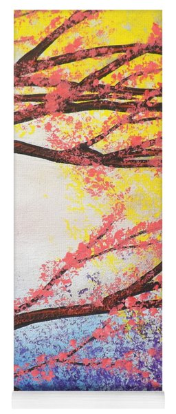 Asian Bloom Triptych 3 Yoga Mat