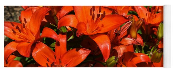 Asiatic Lily Yoga Mat