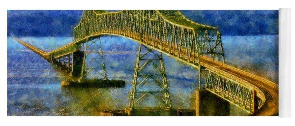 Astoria Megler Bridge Yoga Mat