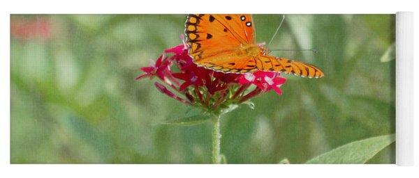 At Rest - Gulf Fritillary Butterfly Yoga Mat