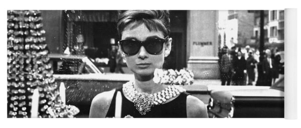 Audrey Hepburn Breakfast At Tiffany's Yoga Mat