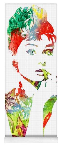 Audrey Hepburn - Watercolor Yoga Mat