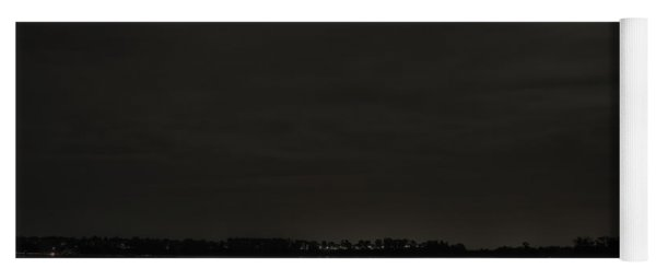 August Full Moon Over Lake Wausau Yoga Mat