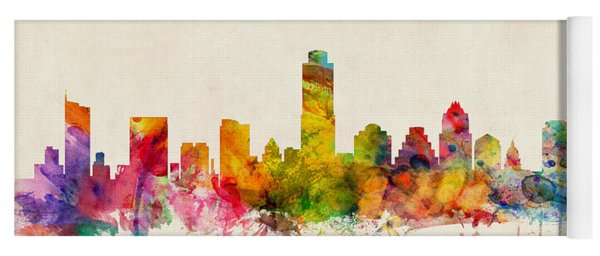 Austin Texas Skyline Yoga Mat