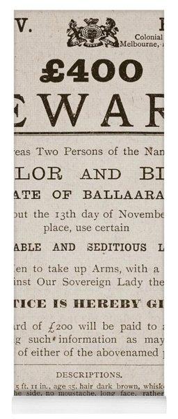 Australian Reward Poster, 1854 Yoga Mat