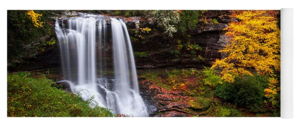 Autumn At Dry Falls - Highlands Nc Waterfalls Yoga Mat