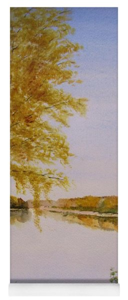 Autumn By The River Yoga Mat