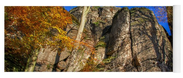 Autumn Colors In The Saxon Switzerland Yoga Mat