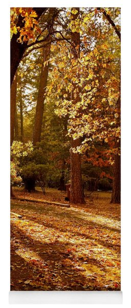 Autumn Country Lane Evening Yoga Mat
