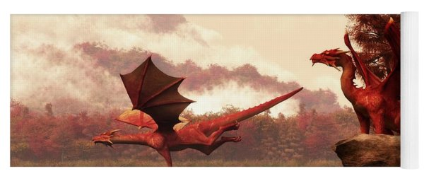 Autumn Dragons Yoga Mat
