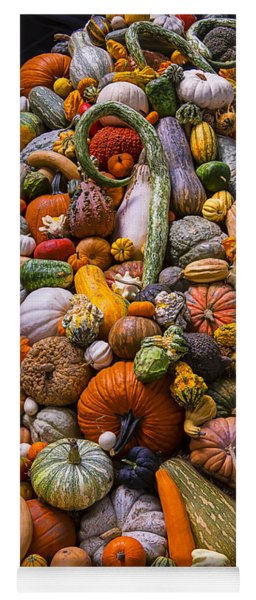 Autumn Harvest Pile Yoga Mat