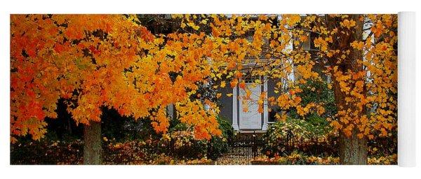 Autumn Homecoming Yoga Mat