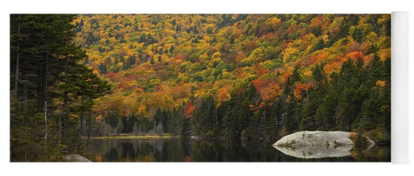 Autumn In Kinsman Notch Yoga Mat