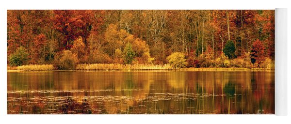 Autumn In Mirror Lake Yoga Mat