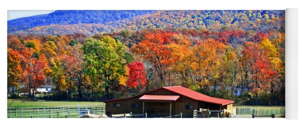 Autumn In Rural Virginia  Yoga Mat