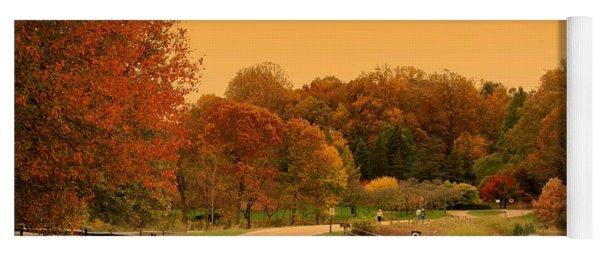 Autumn In The Park - Holmdel Park Yoga Mat
